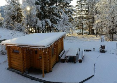 Natural log cabins with UdiFLEX Insulation system